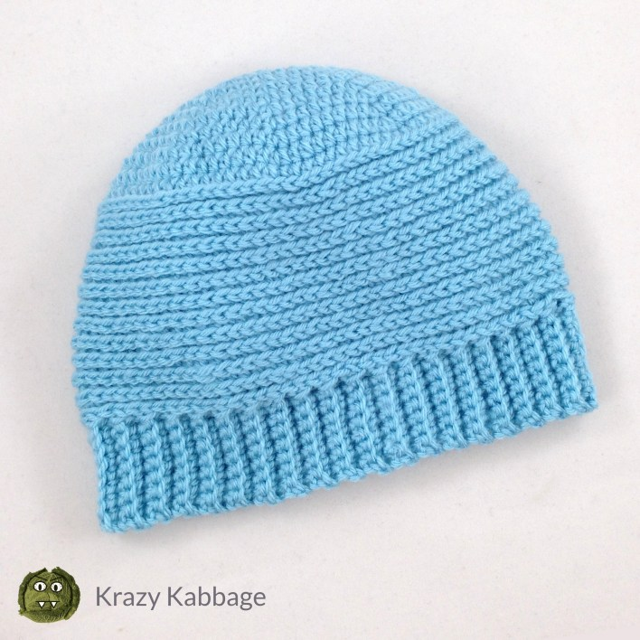 Ribbed Baby Beanie Free Crochet Pattern Krazy Kabbage