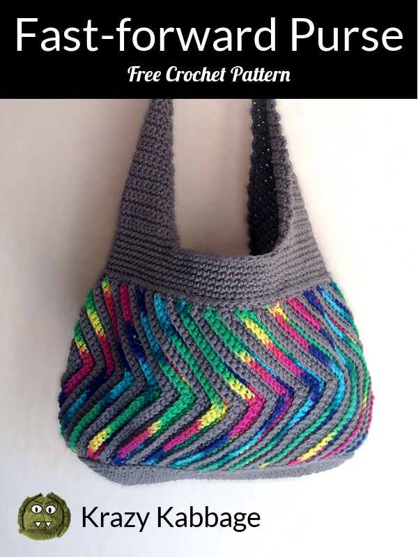 How To Crochet The Fast Forward Chevron Purse Krazy Kabbage