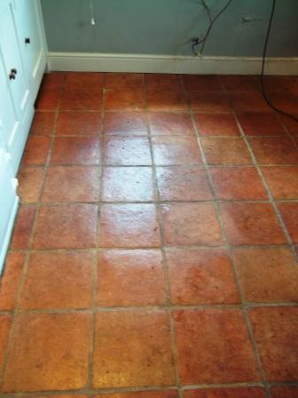 Terracotta Floor Cleaned and Sealed   Tile Doctor Lancashire