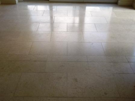 Jerusalem Limestone Floor After Cleaning by Tile Doctor Lancashire