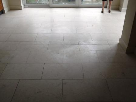 Jerusalem Limestone Floor Before Cleaning by Tile Doctor Lancashire
