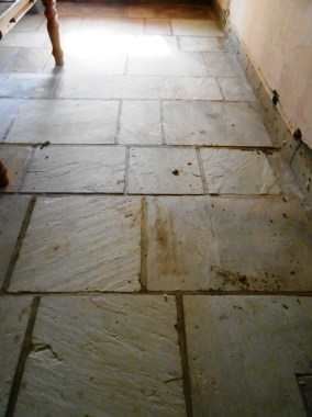 Sandstone floor in Stodday before