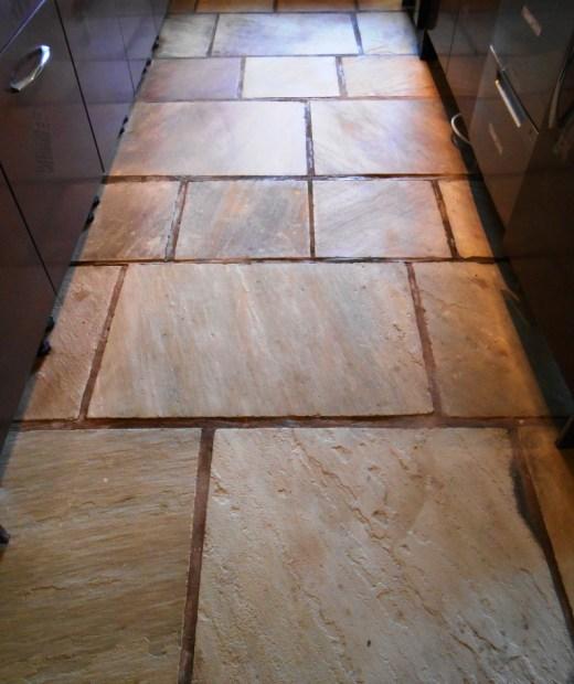 Sandstone floor in Stodday after