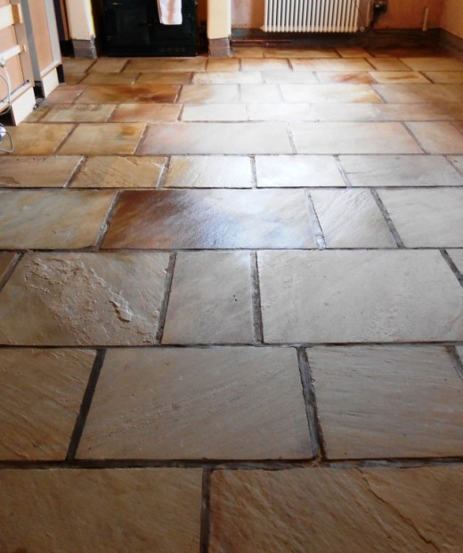 Sandstone floor in Stodday after