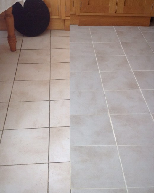 Chorley Tile and Grout Before and After Cleaning
