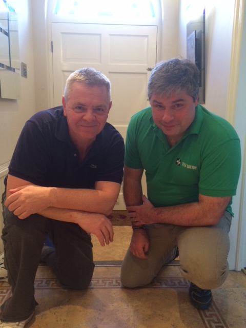 Tile Doctor Russell-Taylor and Phil Middlemiss aka Des Barnes