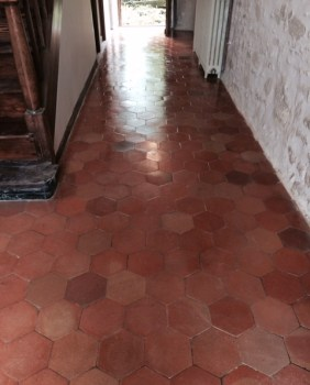 Quarry Tiles after cleaning at the French Chateaux Reims