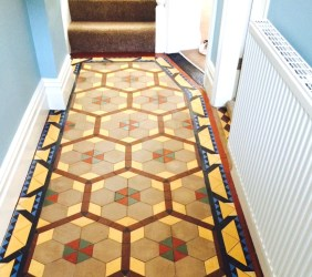 Victorian Tile Restoration Ribchester After Cleaning and Sealing