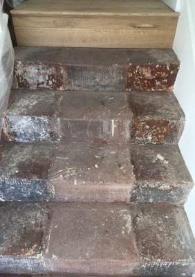 Red jurassic sandstone steps before