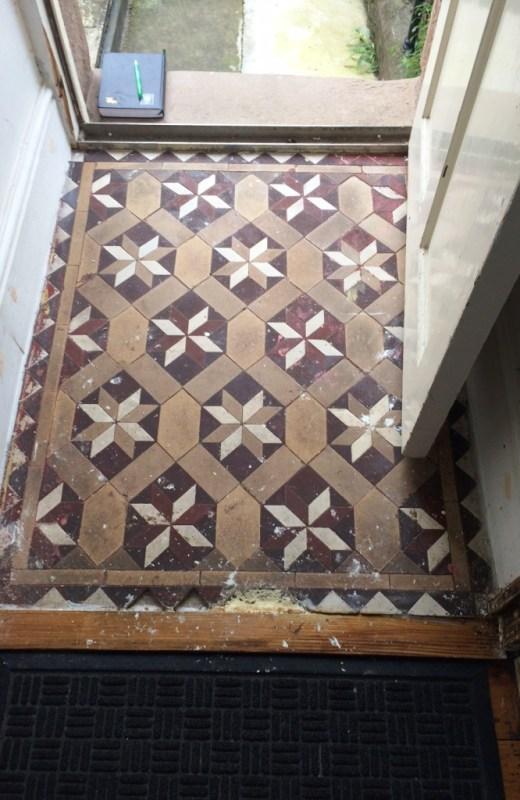 Victorian floor Tile Vestibule Lancaster Before