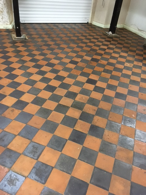 Lancaster Garage Victorian Tiled Floor After Cleaning