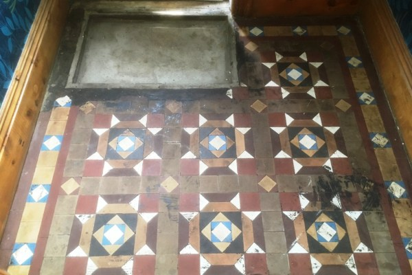 Geometric floor before Restoration Barrow in Furness