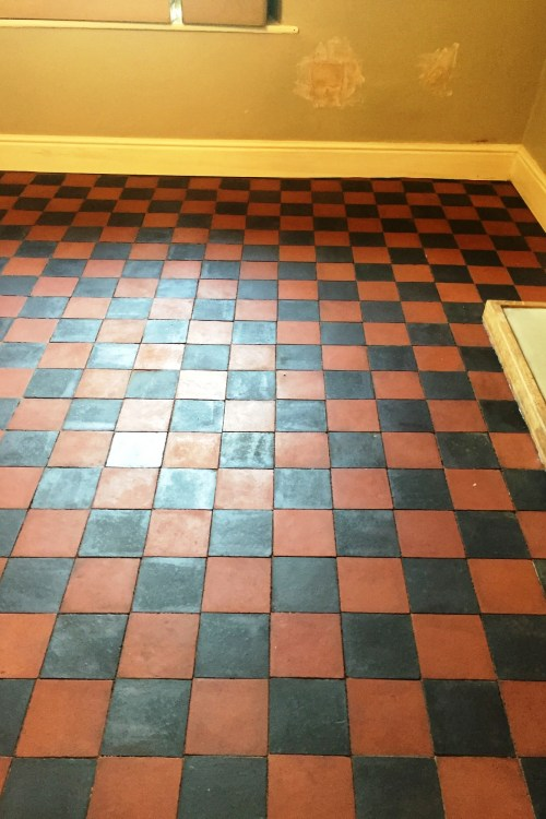 Red and Black Victorian Tiles Preston After Cleaning