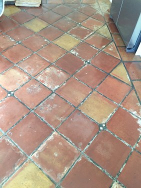 Mexican Terracotta Floor Penwortham Before Cleaning