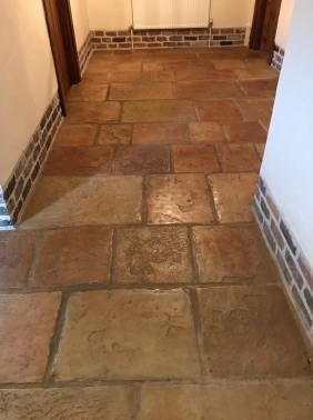 Sandstone Effect Concrete Before Cleaning Garstang