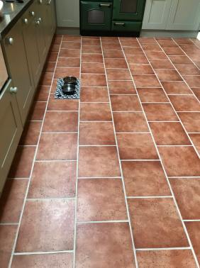 Ceramic Tiled Kitchen Floor After Grout Colouring Ulverston