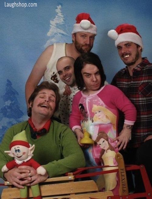 Awkward Redneck Family Christmas Photo