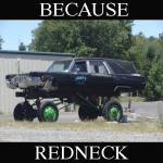 Because Redneck Monster Hearse