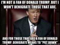 Denigrate Trump
