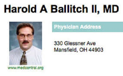 Funny Names Harold Ballitch MD