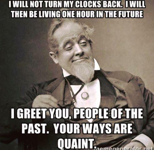 I Will Not Turn My Clock Back