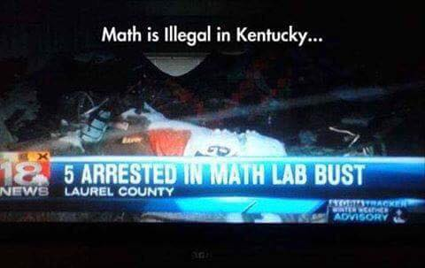 Math Is Illegal In Kentucky image