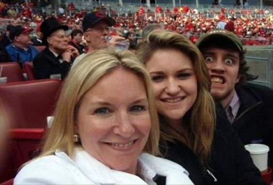 Can't Take Him Anywhere photobomb image