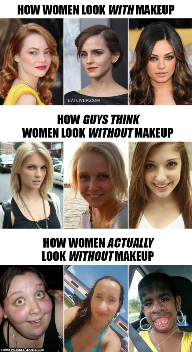 How Women Look without Makeup