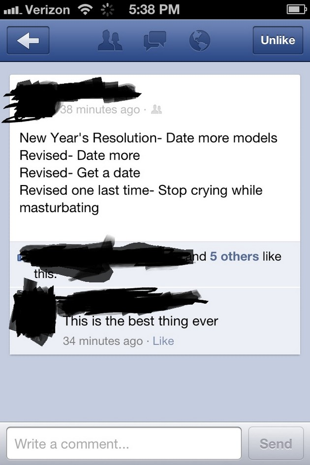 Singles Resolutions funny new year's image