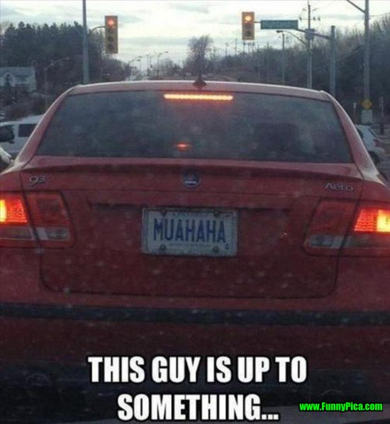 Funny License Plates Muahaha