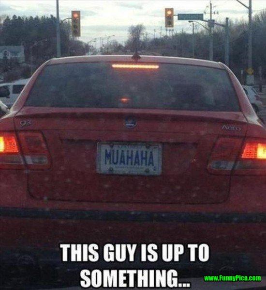 Funny License Plates Muahaha image