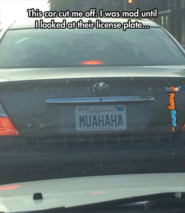 Muahaha License Plate image