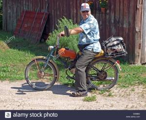 80 Year Old Speedster on a Moped Joke image