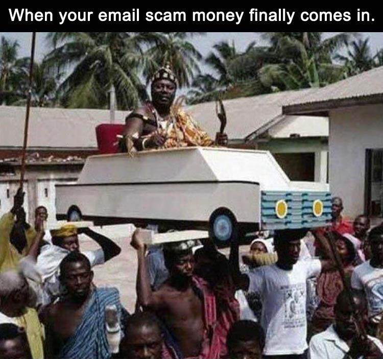 Email Scam Money