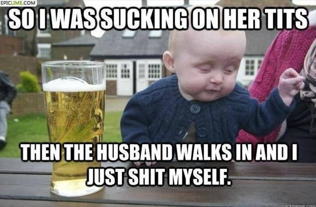 Drunk Baby Caught In The Act