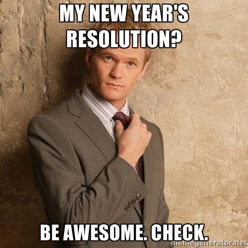 Be Awesome Resolution