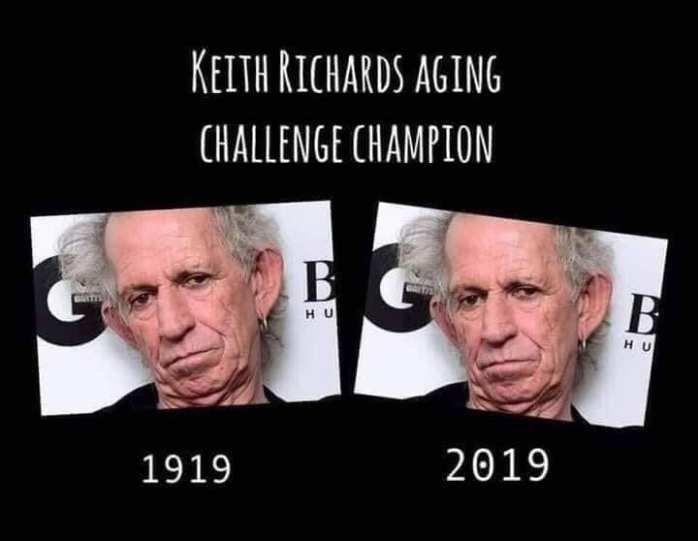 Keith Richards Aging Challenge