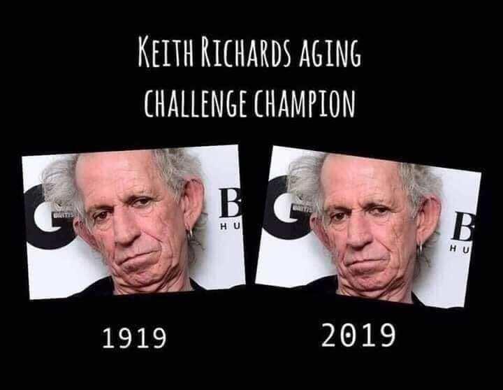 Keith Richards Aging Challenge