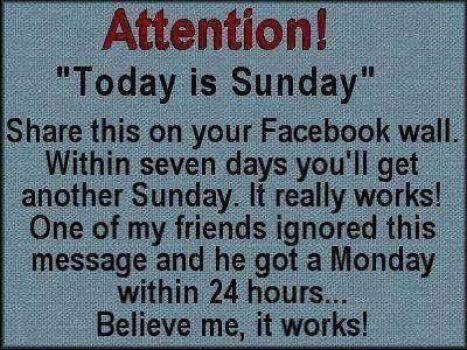 Sunday Share meme image