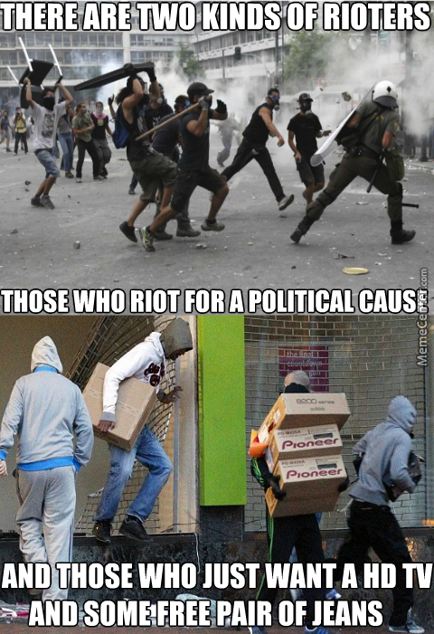 Two Kinds of Rioters