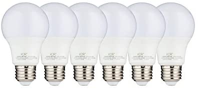(PACK OF 6) 9W LED A19 Light Bulb – Equivalent to 60W – 3000K Soft Warm White – 800 Lumens – E26 Edison Base – UL Listed – 15000 Hours – For Home, Office, Closet, Indoors Spaces- Energy Efficient