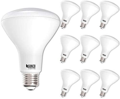 Sunco Lighting 10 Pack BR30 LED Bulb, 11W=65W, 5500K Daylight, 850 LM, E26 Base, Dimmable, Indoor Flood Light for Cans – UL