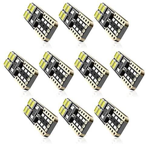 SEALIGHT 194 LED Light Bulb 10 Pack 6000K White Super Bright 168 2825 W5W T10 Wedge LED Replacement Bulbs Error Free for Car Dome Map Door Courtesy License Plate Lights