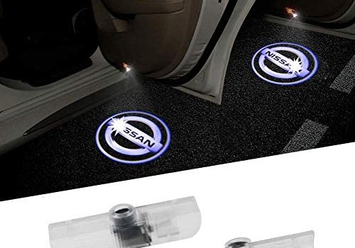 Aukur 2PCS Logo Projector Car Door LED Lighting Entry Projector for Nissan