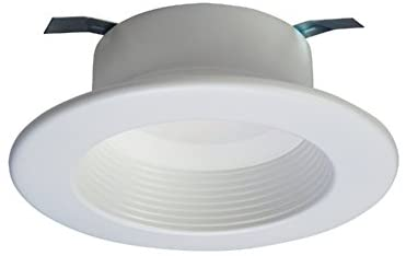 HALO RL460WH940 RL Integrated LED Recessed Lighting Retrofit Downlight Baffle Trim with 90 CRI, 4000K, 4″, White