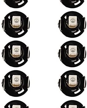 Etopar 10 X Red Car Auto Dashboard T4/T4.2 Neo Wedge LED Bulb Cluster Instrument Dash Climate Gauge Light Control