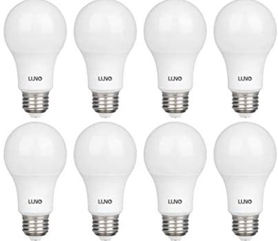 LUNO A19 Non-Dimmable LED Bulb, 6.0W (40W Equivalent), 450 Lumens, 2700K (Soft White), Medium Base (E26), UL Certified (8-Pack)