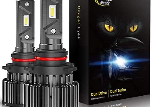 CougarMotor LED Headlight Bulbs All-in-One Conversion Kit – 9005-10000 Lm 6000K Cool White CREE
