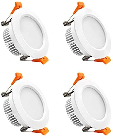 YGS-Tech 3 Inch LED Recessed Lighting Dimmable Downlight, 5W(40W Halogen Equivalent), 2700K Ultra Warm White, CRI80, LED Ceiling Light with LED Driver (4 Pack)