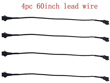 Kingshowstar 4pc 60inch Extension Cords for Use with 5050 LED SMD RGB NEON Accent Kits for LED Motorcycle ATV car Light Multi-Color Neon Strip …